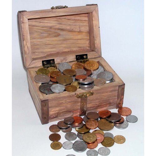 100 Foreign Coins Treasure Chest