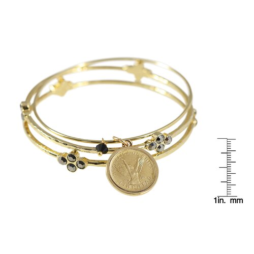 American Coin Treasures Angel Coin Bangle Bracelet