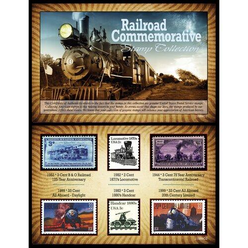 Railroad Commemorative Stamp Framed Memorabilia