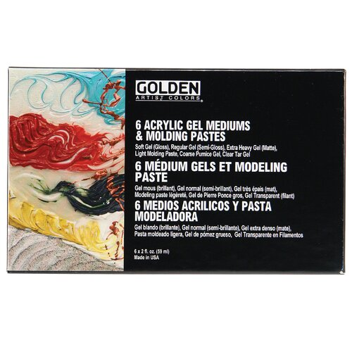 Golden Artist Colors Gel Mediums and Molding Pastes