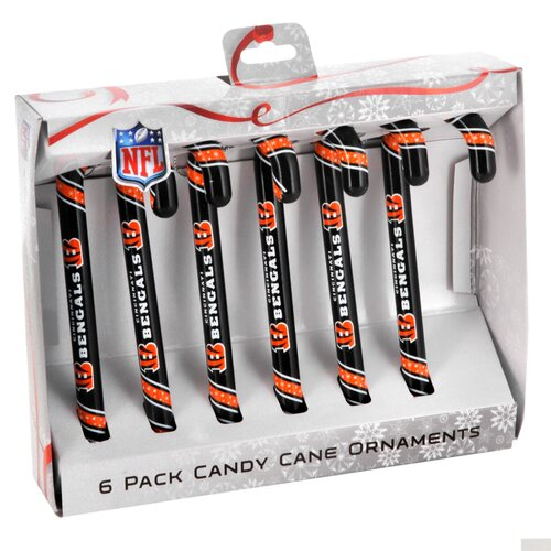 Forever Collectibles NFL Candy Cane Ornaments