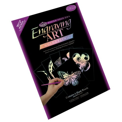 Royal & Langnickel Blank Holographic Engrave Sheet  (Pack of 6)