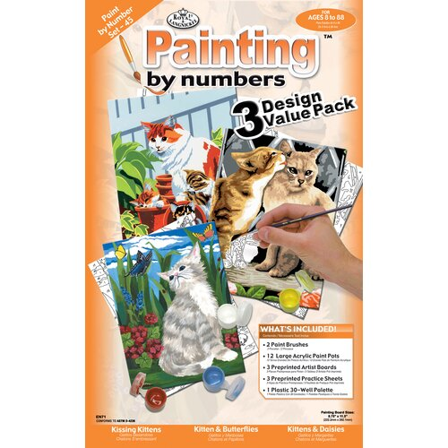 Royal & Langnickel Painting by Numbers Cats Junior Value