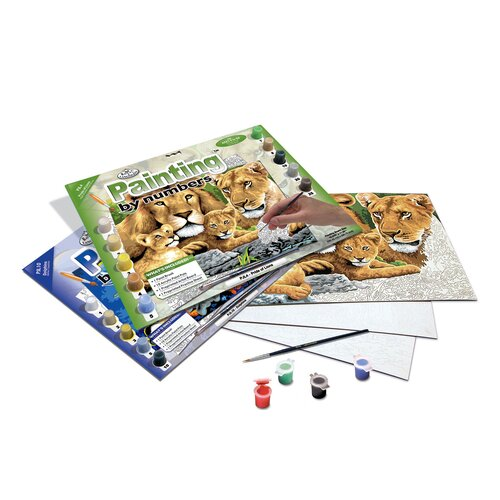 Royal & Langnickel Painting by Numbers Junior Large Pride Of Lion Set