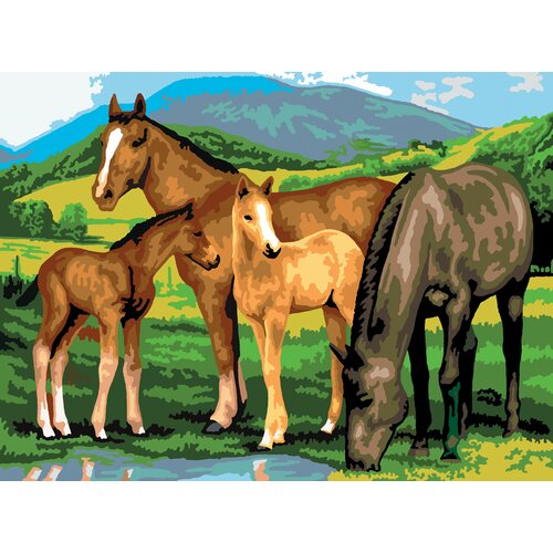 Royal & Langnickel Painting by Numbers Large Horses/Foals Junior Set