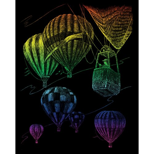 Royal & Langnickel Rainbow Hot Air Balloons Art Engraving