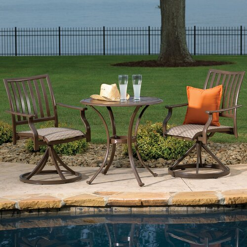 Island Breeze 3 Piece Slatted Dining Bistro Set