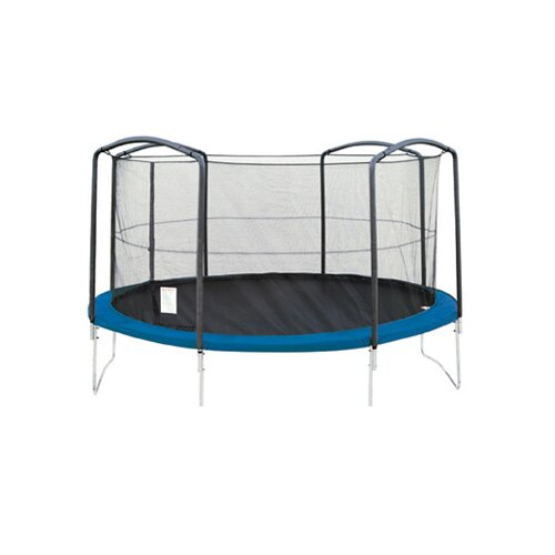 SKYBOUND 13' Enclosure Trampoline Net Using 4 Arches