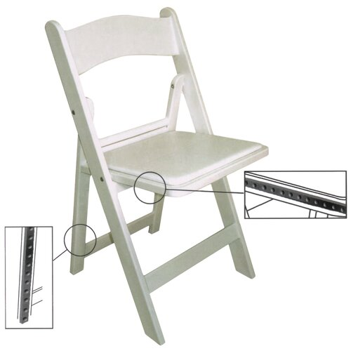 McCourt Manufacturing Wimbledon Resin Folding Chair
