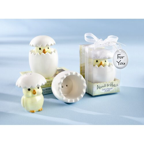 "Kate Aspen ""About To Hatch"" Ceramic Baby Chick Salt and Pepper Shaker"