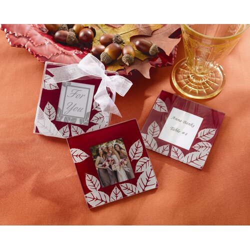 "Kate Aspen ""Fall Impressions"" Glass Photo Coaster (Set of 2)"
