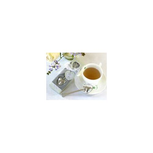 Kate Aspen ''Tea Time'' Heart Tea Infuser Favor in Teatime Gift Box