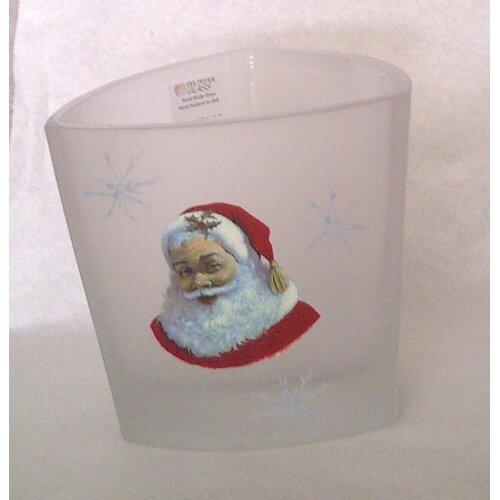 Womar Glass Santa Claus Candleholder