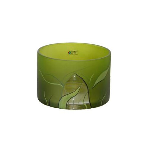 Womar Glass Lucious Lime Vase