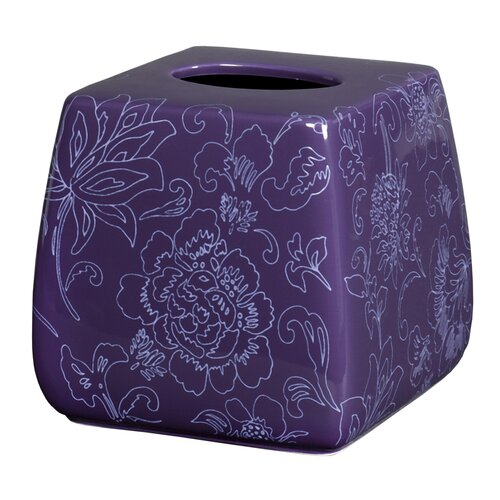 Fine Lines Ceramic Tissue Box Cover