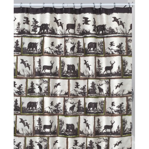 Rustic Montage Shower Curtain