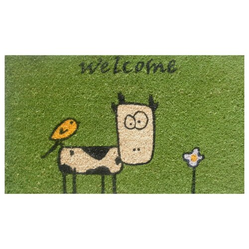 Home & More Cute Cow Doormat