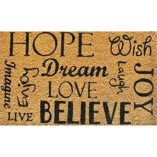 Home & More Hope Dream Believe Doormat
