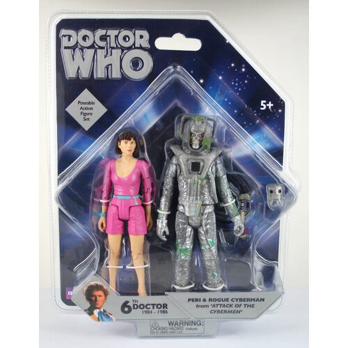 Underground Toys Doctor Who Peri and Rogue Cyberman Action Figures