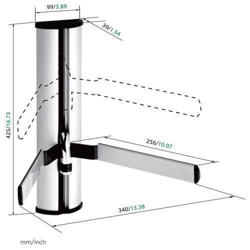 Lestech A/V Component Shelf Mount