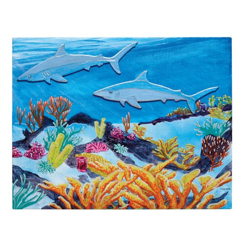 Fredrix Wyland Reef Series Shark Canvas Kit