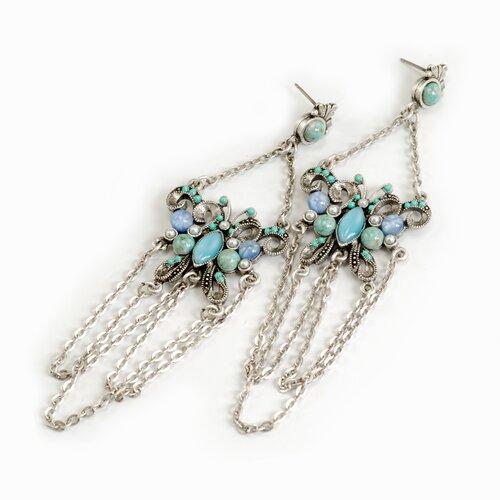 Tang Butterfly Gemstone Drop Earrings