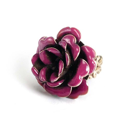 Enamel Rose Rings