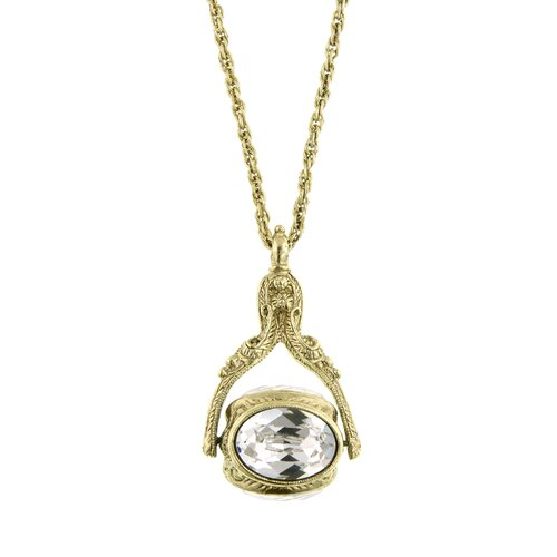 1928 Jewelry Vintage Inspired Rotating Pendant