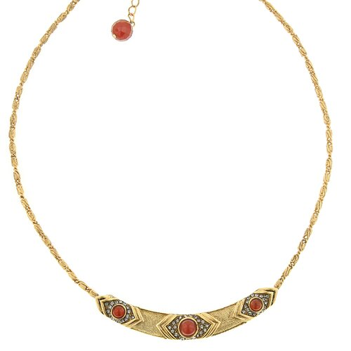 T.R.U. Jewelry Carnelian Collar Necklace