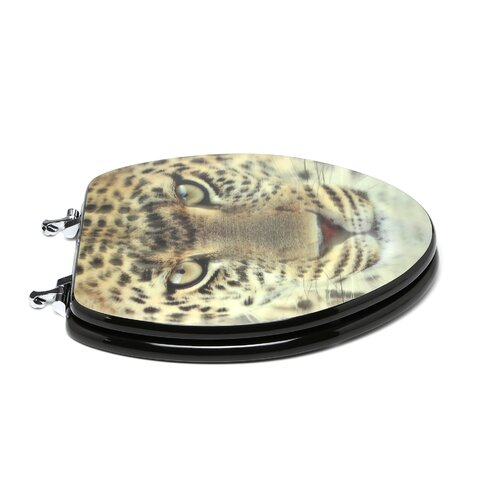 Topseat 3D Series Leopard Head Elongated Toilet Seat