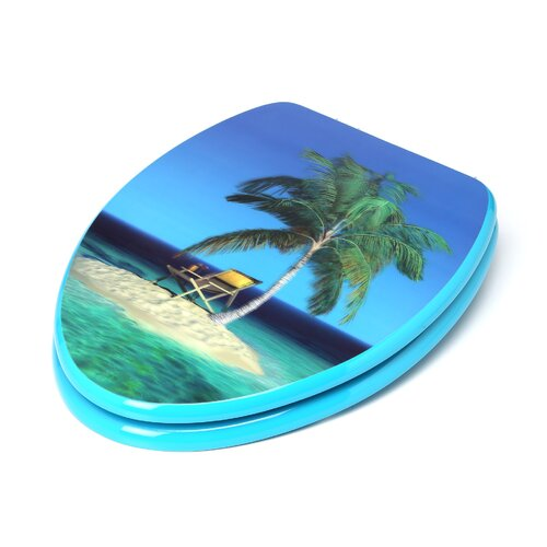 Topseat 3D Series Beach Elongated Toilet Seat