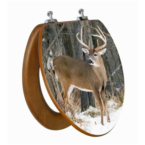 Topseat 3D Upland Series Deer Elongated Toilet Seat