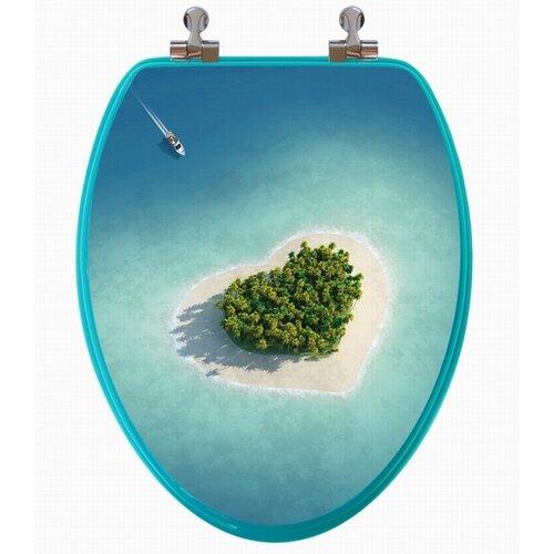 3D Series Beach Elongated Toilet Seat