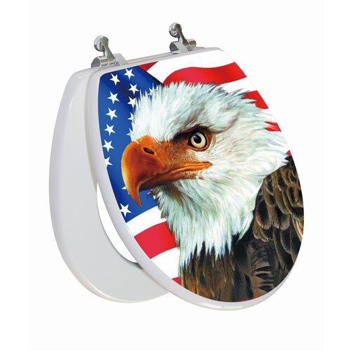 Topseat 3D Series Eagle Round Toilet Seat