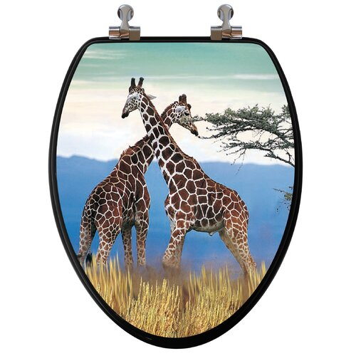 Topseat 3D Series Giraffes Elongated Toilet Seat
