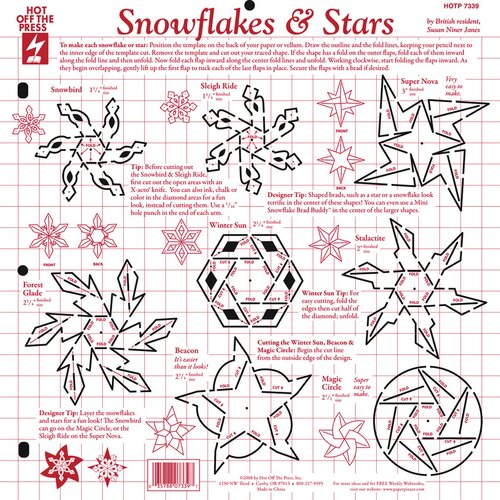 Hot Off the Press Snowflakes and Stars Template