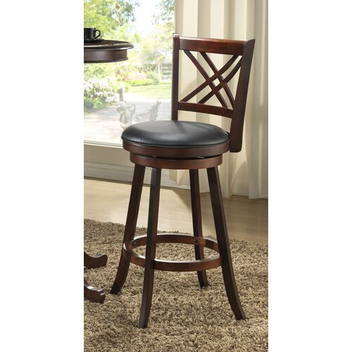 "ECI Furniture Distressed Walnut 29"" Bar Stool"