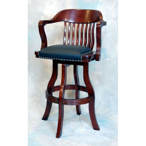 "ECI Furniture Burnished Oak 30"" Bar Stool with Cushion"