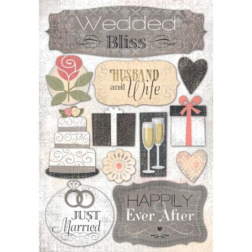 Karen Foster Design Cardstock Stickers Husband & Wife