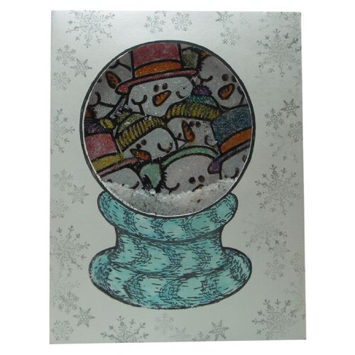 Sarasota Stamps Mounted Rubber Snowglobe Stamp