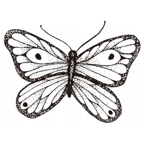 Sarasota Stamps Mounted Rubber Shaded Butterfly Stamp