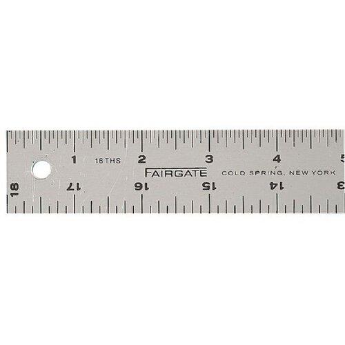Fairgate Cork-Back Aluminum Ruler