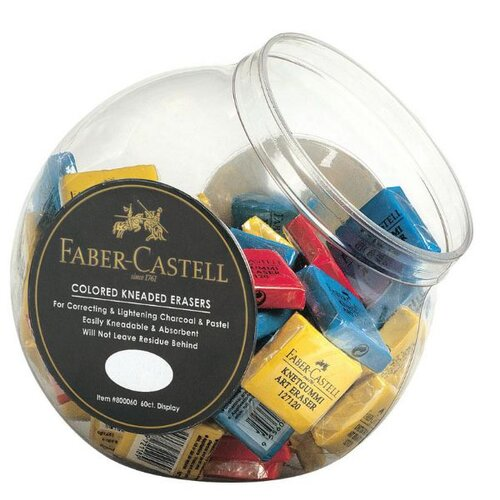 Faber- Castell Color Kneaded Eraser  with Display