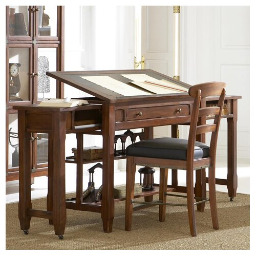 kathy ireland Home by Martin Furniture Portland Loft Office Collection Expandable Architect's Desk