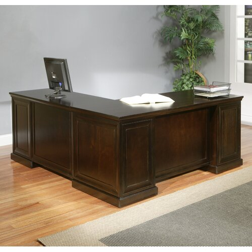 Fulton Double Pedestal L Shaped Computer Desk Wayfair