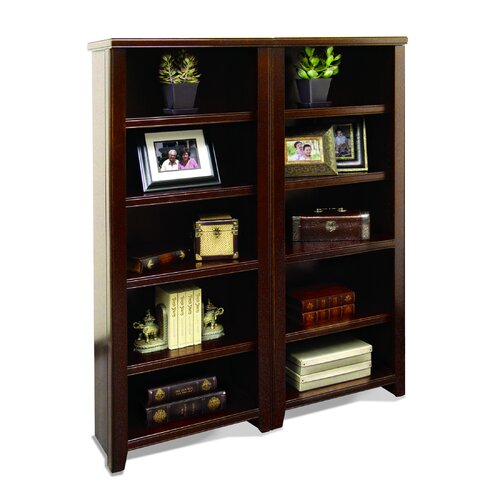 "kathy ireland Home by Martin Furniture Tribeca Loft - Cherry 61"" Bookcase"