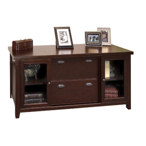 "kathy ireland Home by Martin Furniture Tribeca Loft 68"" Storage Credenza with Sliding Doors"