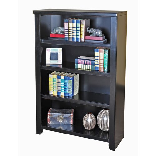 Tribeca Loft Black 4-Shelf Wood Bookcase