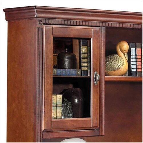 kathy ireland Home by Martin Furniture Huntington Club L-Shape Executive Desk with Hutch