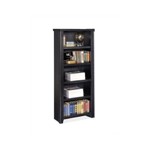 "kathy ireland Home by Martin Furniture Tribeca Loft - Black 61"" Bookcase"